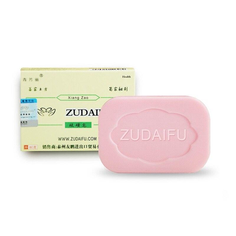 Купить с кэшбэком 6/10PCS Zudaifu Sulfur Soap Cleanser Oil-Control Treatment Psoriasis EczemaAnti Fungus Bath Whitening Soap Shampoo Handmade Soap