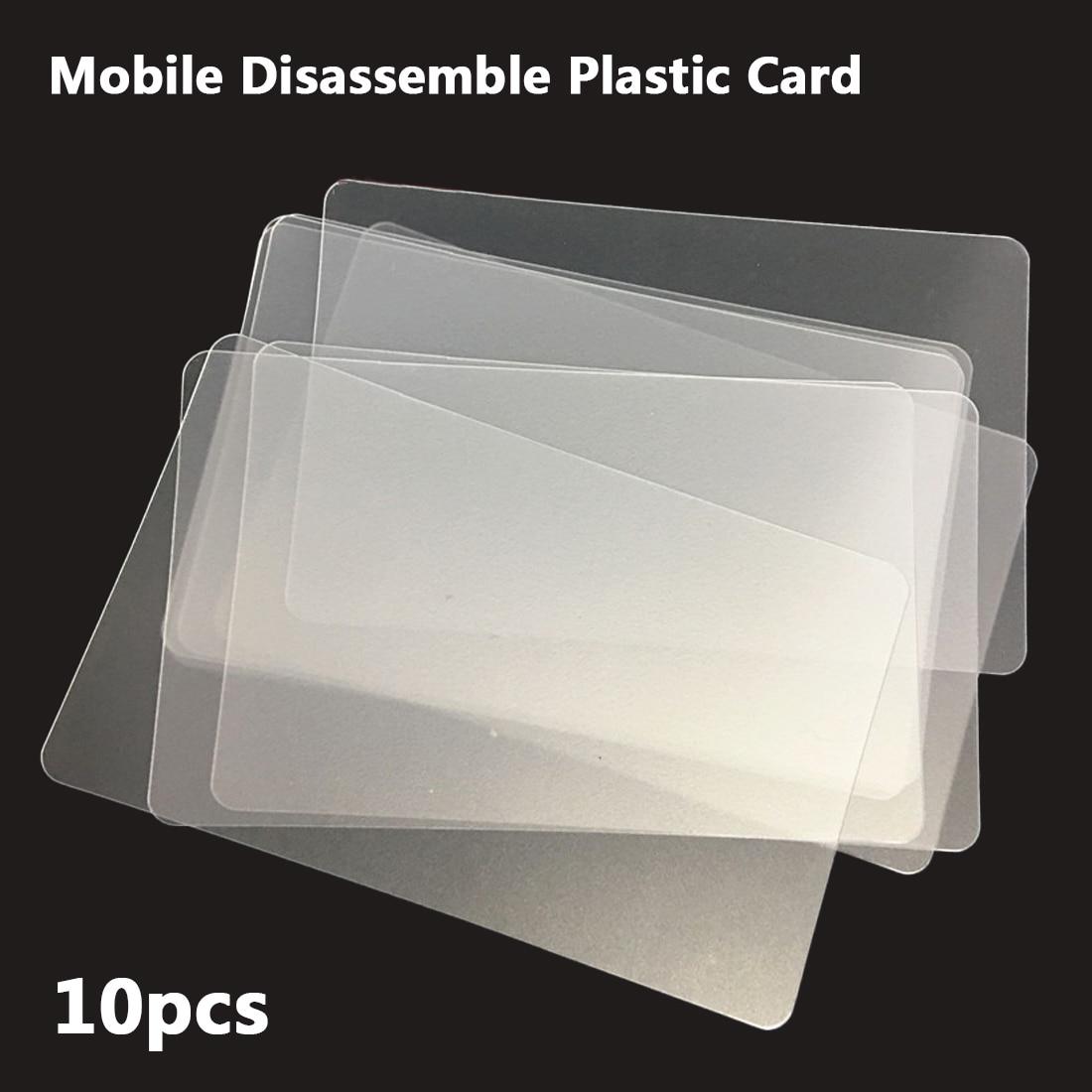 10pcs Plastic Card Pry Opening Scraper For IPhone IPad Tablet For Samsung Mobile Phone Glued Screen Repair Tool Hand Tool Set