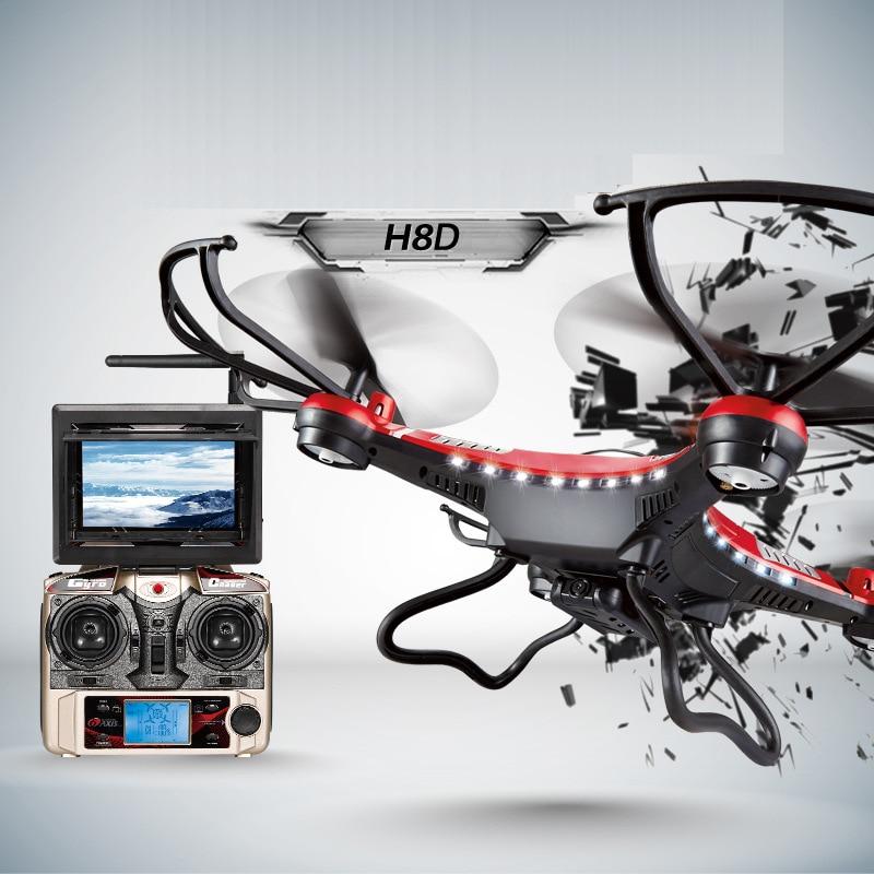JJRC H8D RC Quadcopter 2.4Ghz Headless Mode One Key Return 5.8G FPV  Drone with 2MP Camera  LCD RTF RC Helicopter Toy jjrc upgraded h5c headless mode one key return rc quadcopter helicopter drone with 2mp camera rtf 2 4ghz