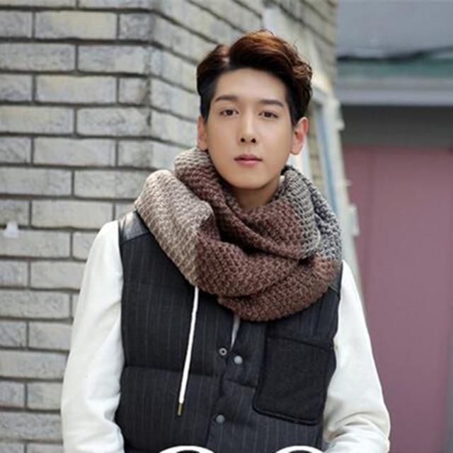 Aliexpress Buy Men Sjaals Winter Crochet Scarf Long Stripe
