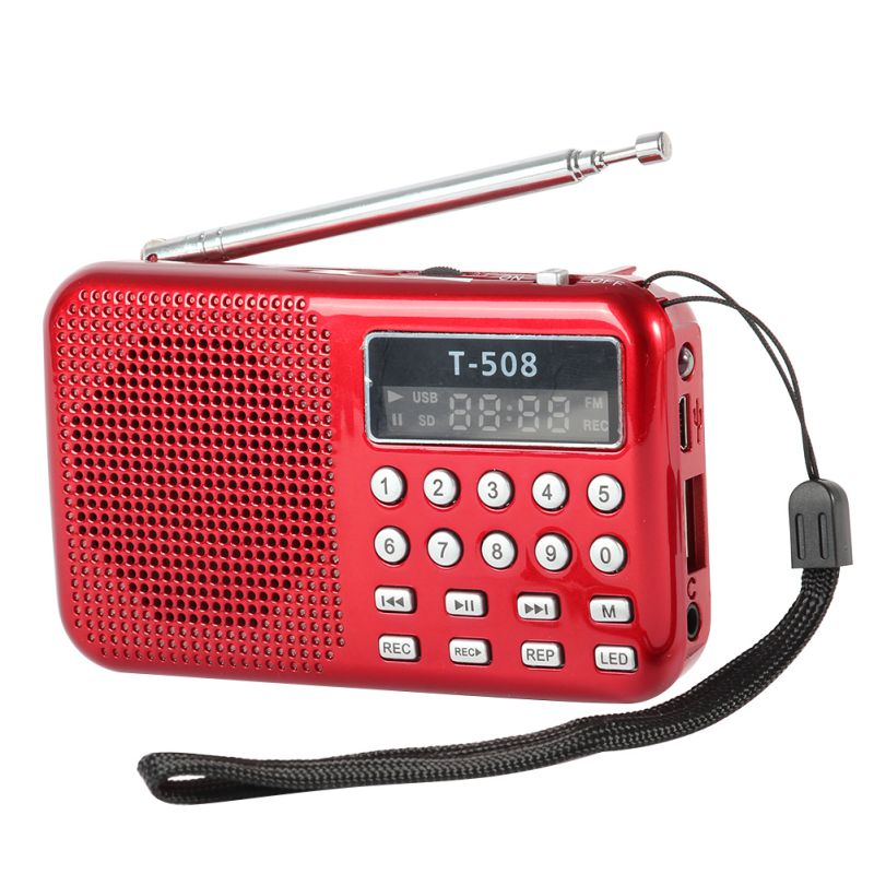 best and new radio discount mini portable lcd digital fm radio speaker usb micro sd tf. Black Bedroom Furniture Sets. Home Design Ideas