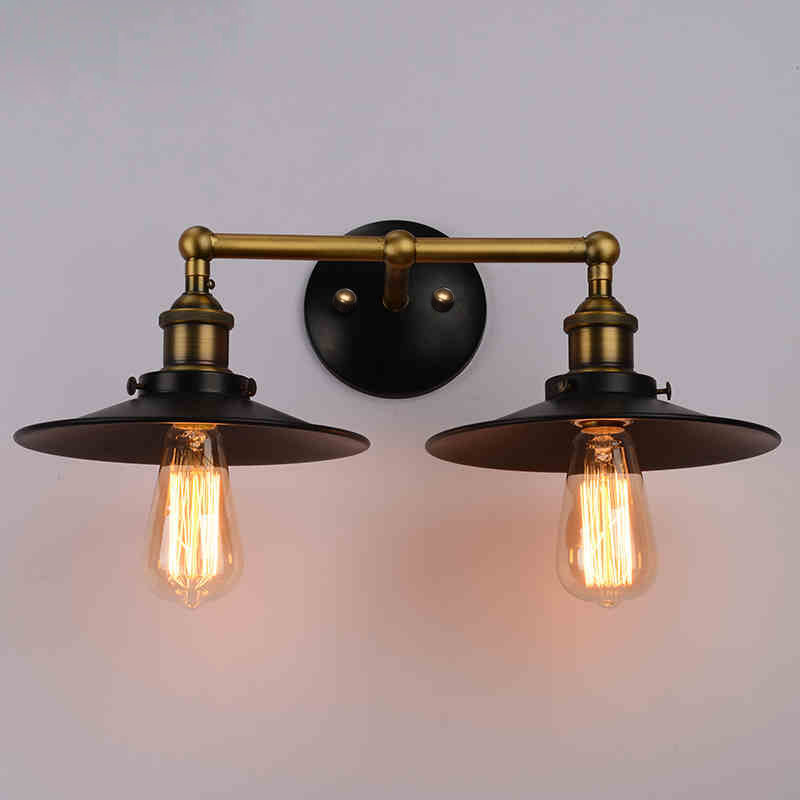 Retro classic wall lamp simple personality American country industrial theme wall lamp oil smoke umbrella wall lamp GY31Retro classic wall lamp simple personality American country industrial theme wall lamp oil smoke umbrella wall lamp GY31