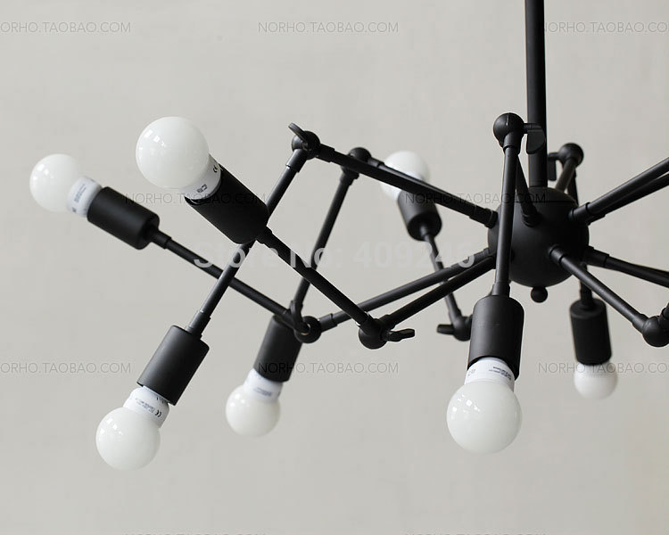 Moderne Lampen 8 : Moderne edison industrielle spider kronleuchter lampe loft