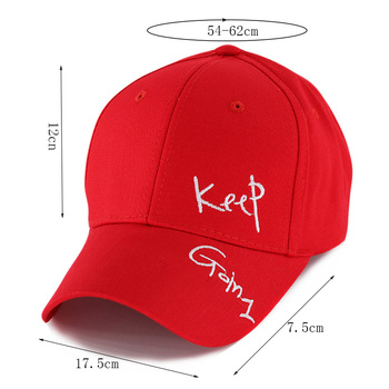 miaoxi New Fashion Women Summer Adjustable Casual Baseball Cap Adult Red Hat Letter Caps For Men Cotton Snapback Hip Hop Hat 1