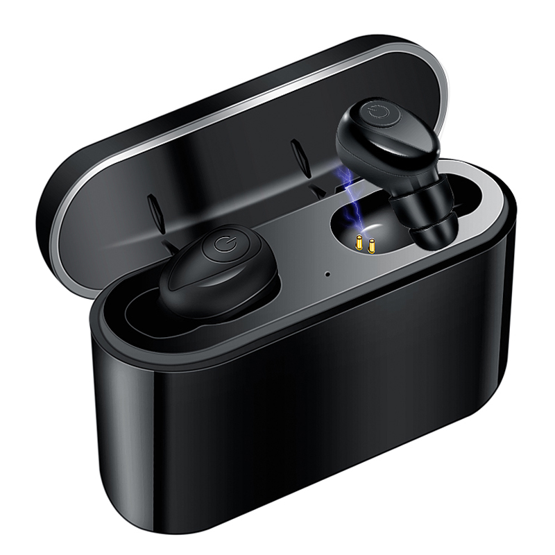 <font><b>TWS</b></font> <font><b>Bluetooth</b></font> <font><b>Earphone</b></font> 5.0 Invisible Mini Wireless <font><b>Earphones</b></font> Bass Earbuds Headset with 2200 mAh Charging Box Power Bank image