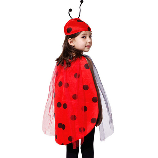 Nueva Llegada Del Traje de Halloween Para Los Niños Anime Cosplay Costume Niños Insectos Mariquita Ropa Del Funcionamiento Del Partido