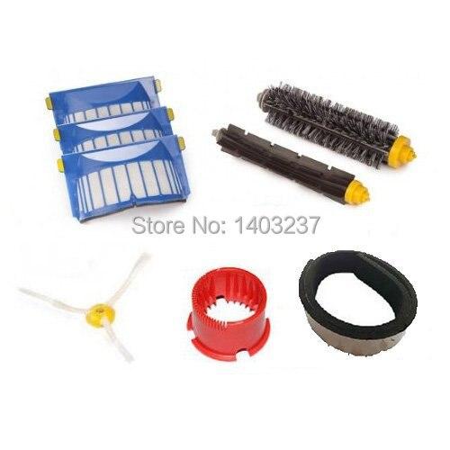 Plastic Bumper Aero Vac Filter Bristle Brush Flexible Beater Brush Side Brush for iRobot Roomba 600 Series (620 630 650 660)