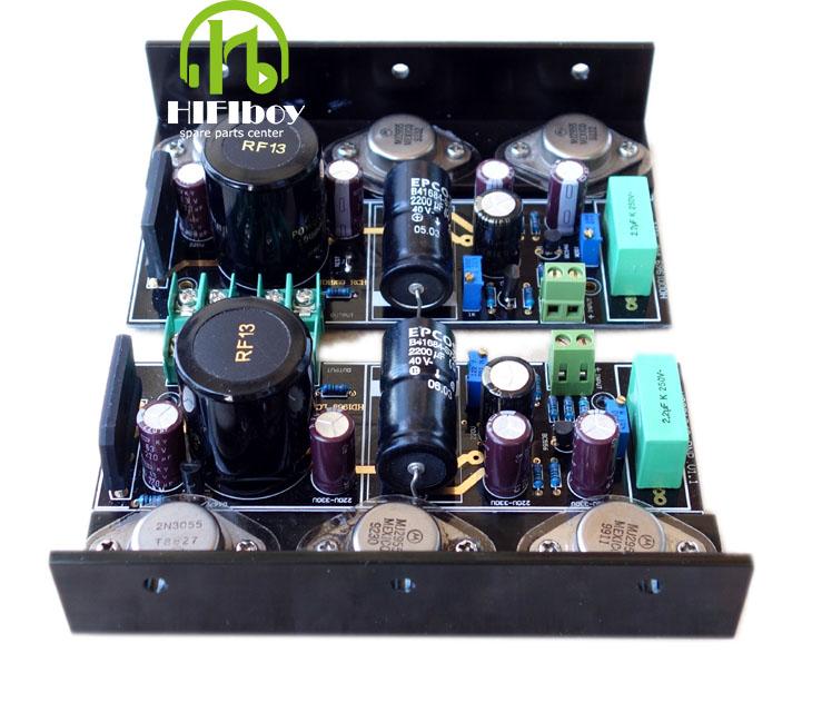 Prix pour Livraison gratuite Capot 1969 classe Un 4 pcs MJ2955 2 pcs 2N3055 puissance amplificateur Terminé conseil avec dissipateurs