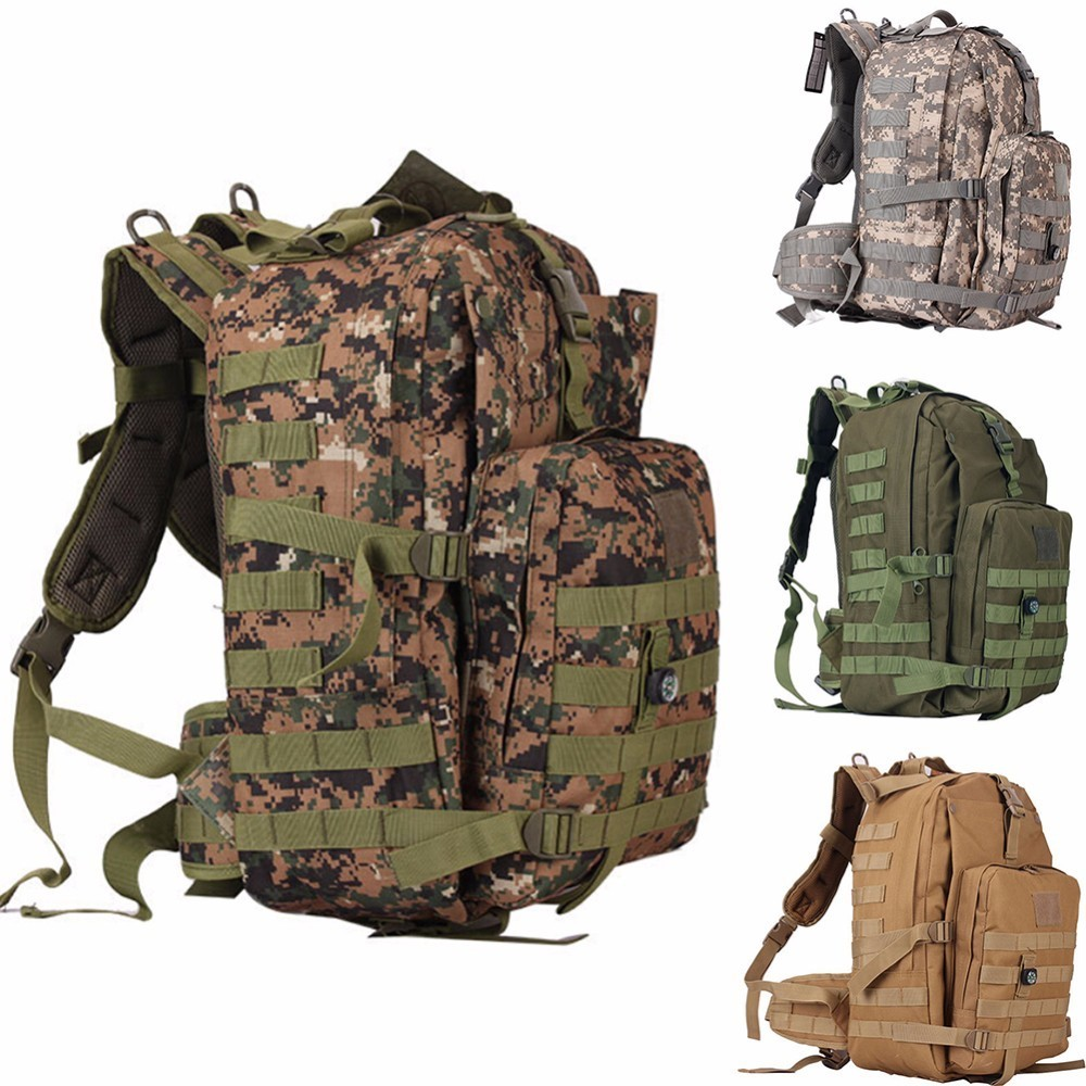 55L Military Tactical Assault Pack Backpack Army Molle Waterproof Bug Out Bag Climb Rucksack for Outdoor Hiking Camping Hunting reebow tactical military tactical assault pack backpack army molle waterproof camping bug out bag rucksack for outdoor hiking