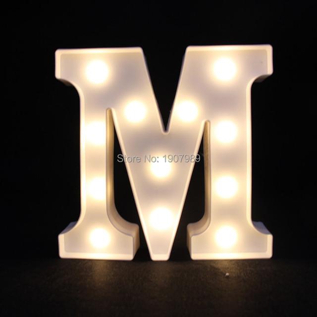 9 polegadas de Plástico Branco Marquise LEVOU carta Sinal de luz ACENDER a luz da noite