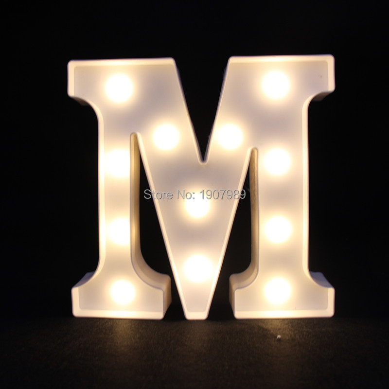 9inch white plastic led marquee letter sign light light up night light