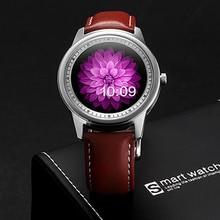 FLOVEME Lederband Smartwatch Bluetooth Smart Uhr Für iPhone Android IOS Anruf Armbanduhr Uhr Uhren Saatler