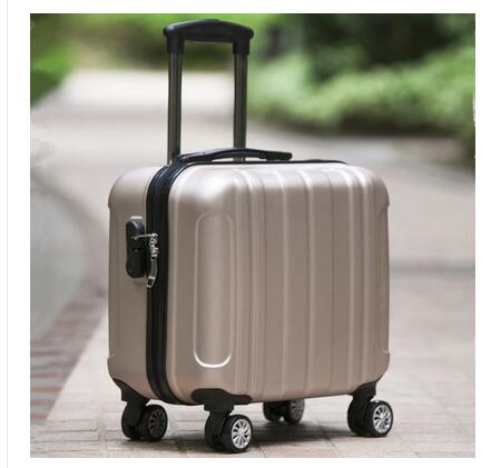 """18"""" Travel Luggage Suitcase Spinner Wheels Boarding case Trolley Suitcase  Wheeled Travel rolling luggage suitcase on wheels-in Travel Bags from Luggage & Bags    1"""