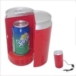 Портативный мини-холодильник с usb, холодильник с подогревом, гаджеты, мини USB ПК, холодильник для напитков, автомобильные банки для напитков, ...