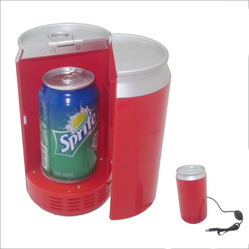 portable mini usb fridge cooler warmer gadgets mini usb pc fridge beverage car drink cans