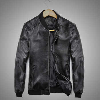 Men's sheepskin Coat Winter Genuine Leather Jacket For Men Motorcycle Bomber Jacket Natural Real Leather Male Aviator 2019 - DISCOUNT ITEM  55% OFF All Category