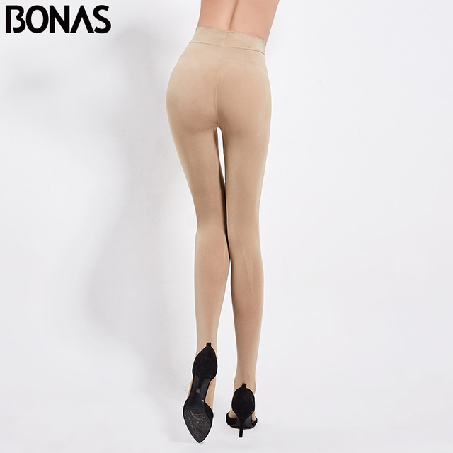 BONAS 200D Tights Autumn Sexy Velvet Seamless Pantyhose Women Warm Elasticity Spandex Black Resistant 100KG Female Stockings 2