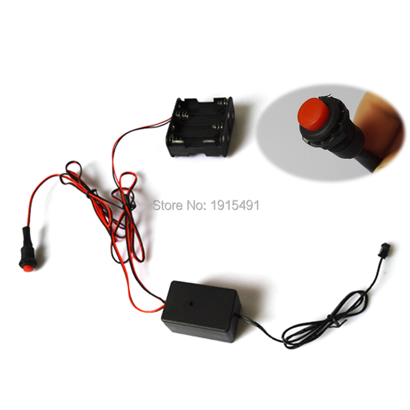 DC12V 1-20meters EL inverter EL Driver with Cell box for 4-20m EL wire powered by 8-AA battery For Holiday Lighting Decoration