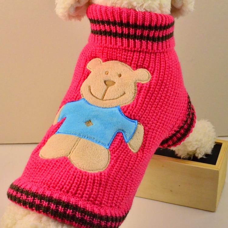 2015 suéter del perro pet warm knitting crochet ropa para