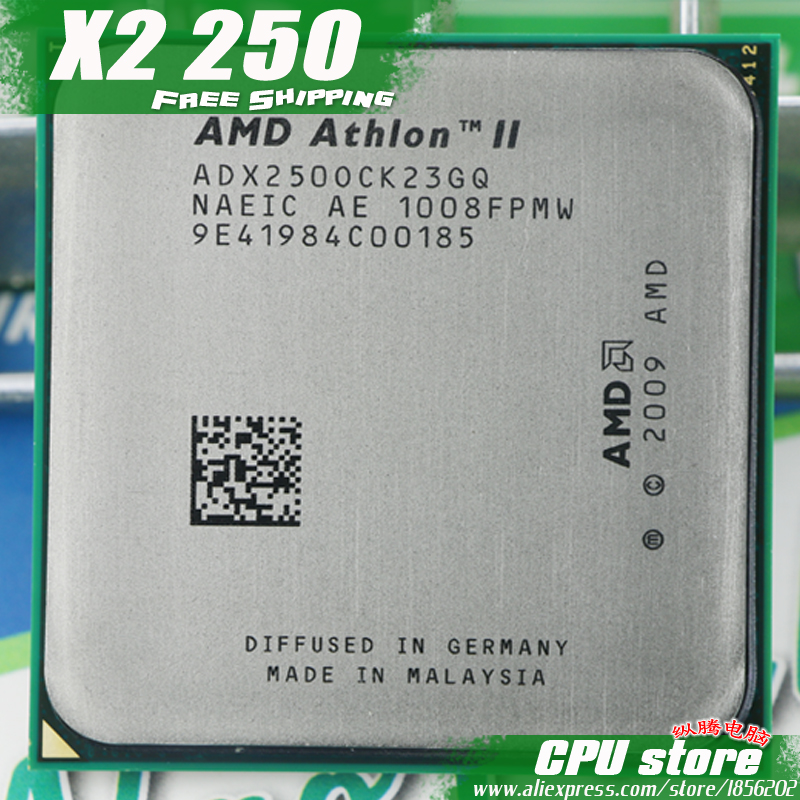 Процессор AMD Athlon II X2 250 Процессор процессор (3.0 ГГц/2 м/2000 ГГц) socket AM3 AM2 + бесплатная доставка 938 pin, есть, Продаем x2 255 Процессор