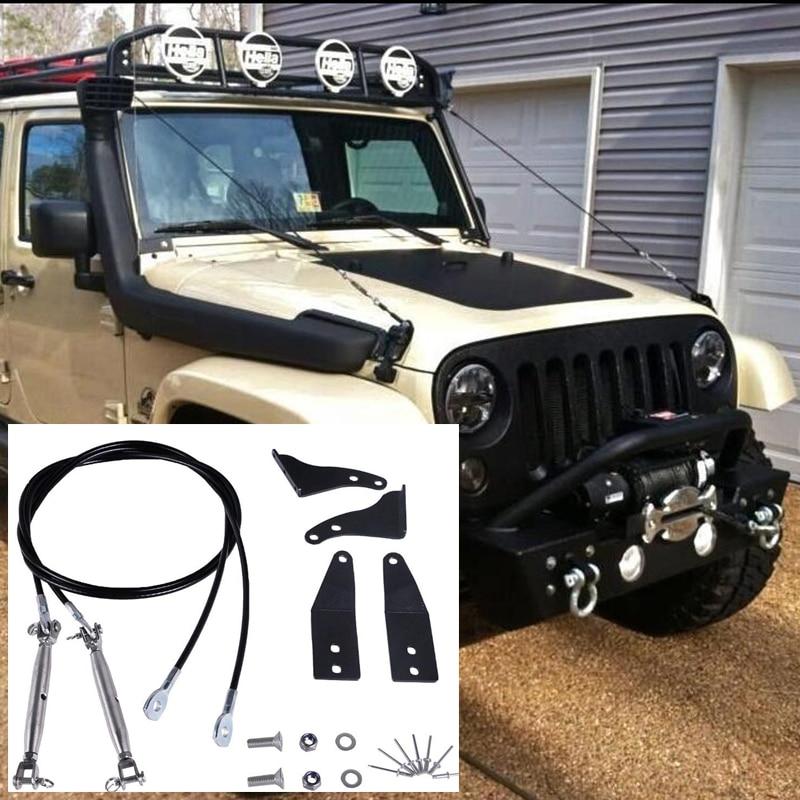 Pour Jeep Wrangler JK 2007-2016 2017 2018 Membre Kit Riser Obstacle Éliminer Protecteur de Corde Dévier Bas Branches brosse
