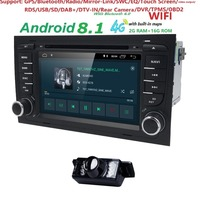 Free shipping! 4G WIFI Android 8.1 CAR GPS Navi for audi A4 2002 2008 S4 RS4 8E 8H B6 B7 With BT RDS DVD multimedia player radio