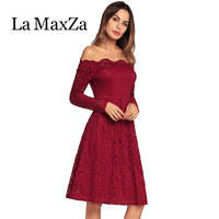 La MaxZa New Style 2018 Party A Sexy Long Bud Silk Sleeves Women Elegant Short Wedding