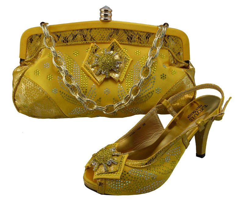 ФОТО Latest Party Shoes And Bag Set With Stones To Match High Quality African Pumps Shoes Italian Shoes And Matching Bag Set GF22
