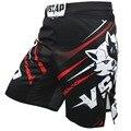 Pantalones cortos de boxeo Muay Thai para hombre VSZAP Impresión de pantalones cortos MMA lucha de lucha corta de poliéster Kick Gel Thai Boxing Shorts MMA Boxe