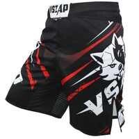 VSZAP Shorts de Boxe Muay Thai pour hommes impression de Shorts MMA combat de grappin court Gel de coup de pied en Polyester Shorts de Boxe thaï MMA Boxe