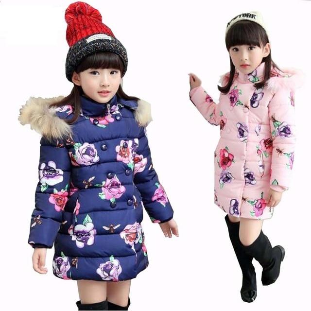 Girls Winter Coat Thicken Warm Cotton Padded Kids Warm jacket for girls clothes Children Parkas girl 3-15Y girls winter jacket