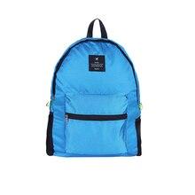 Fashion Multi-function Men And Women Backpack Nylon Large Capacity Travel Storage Bag Diamond Lattice Foldable