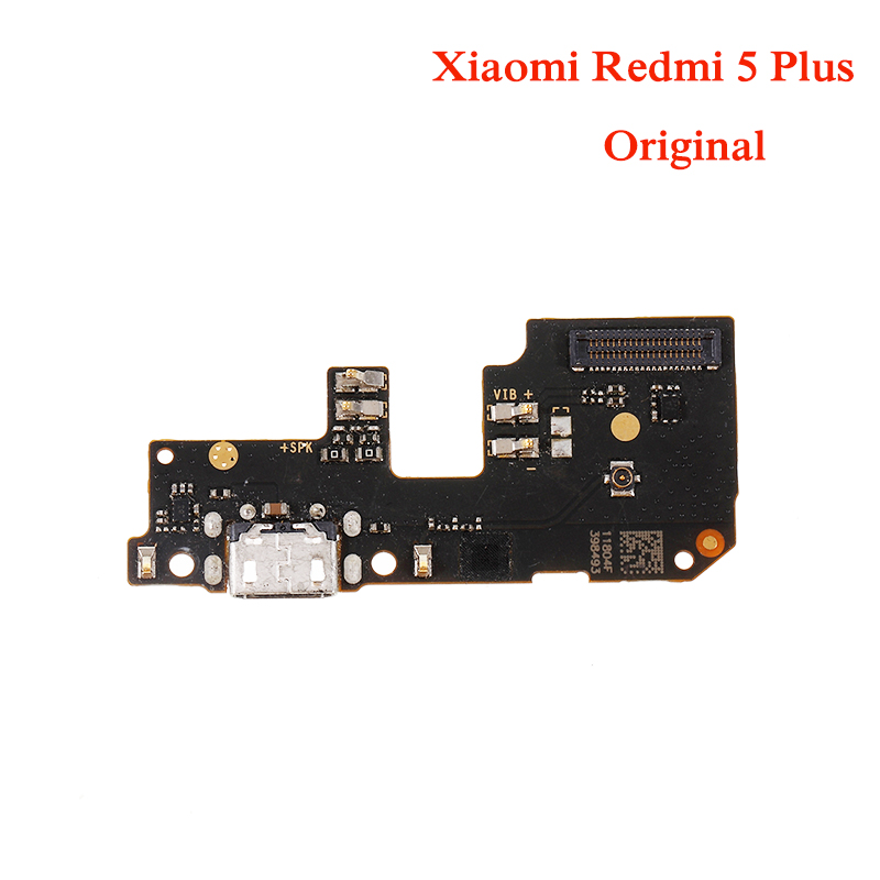 Original USB Charging Port Charger Board Flex Cable For Xiaomi Redmi 5 Plus Dock Plug Connector With Microphone Flex