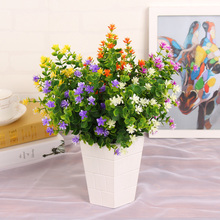 Eucalyptus BabyBreath Fake Silk Artificial Flowers Plant for Home Wedding Party House Decoration Flower Drop Shipping