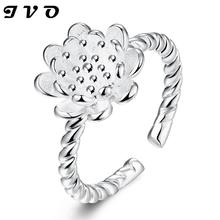 Silver plated new design finger ring for lady wedding jewelry anillos mujer anel feminino engagement ring