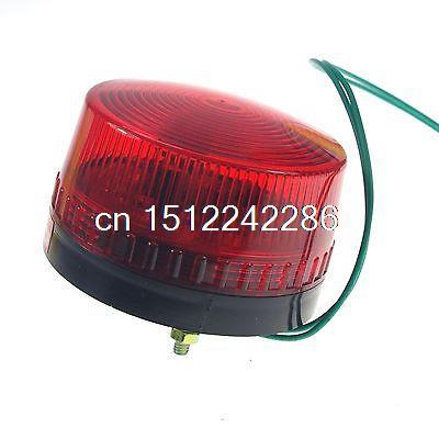 1PCS 220VAC RED LED Beacon Warning Signal Light Alarm Lamp Spiral Fixed