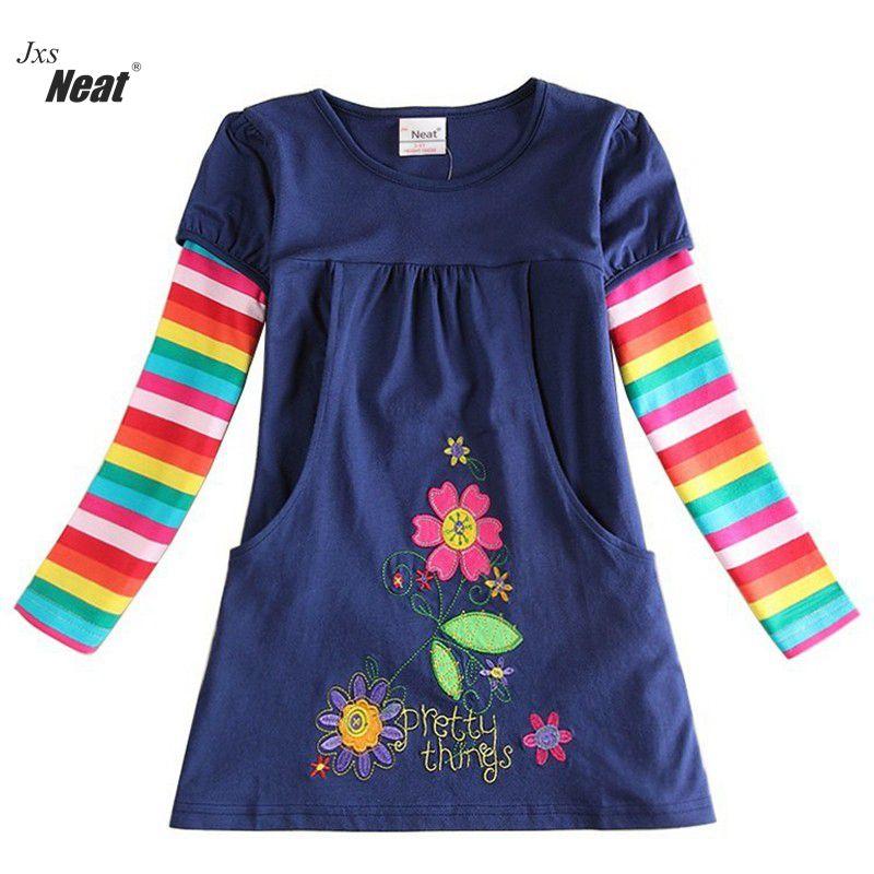 NEAT NOVA top Baby Girl clothes flower girl dress vestido infantil kids dresses for girls Long