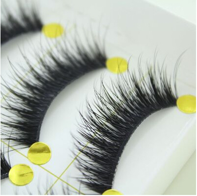 wholesale 5 pairs Makeup Handmad Natural Fashion False Eyelashes Soft long Eye Lash Cosmetic Free shipping