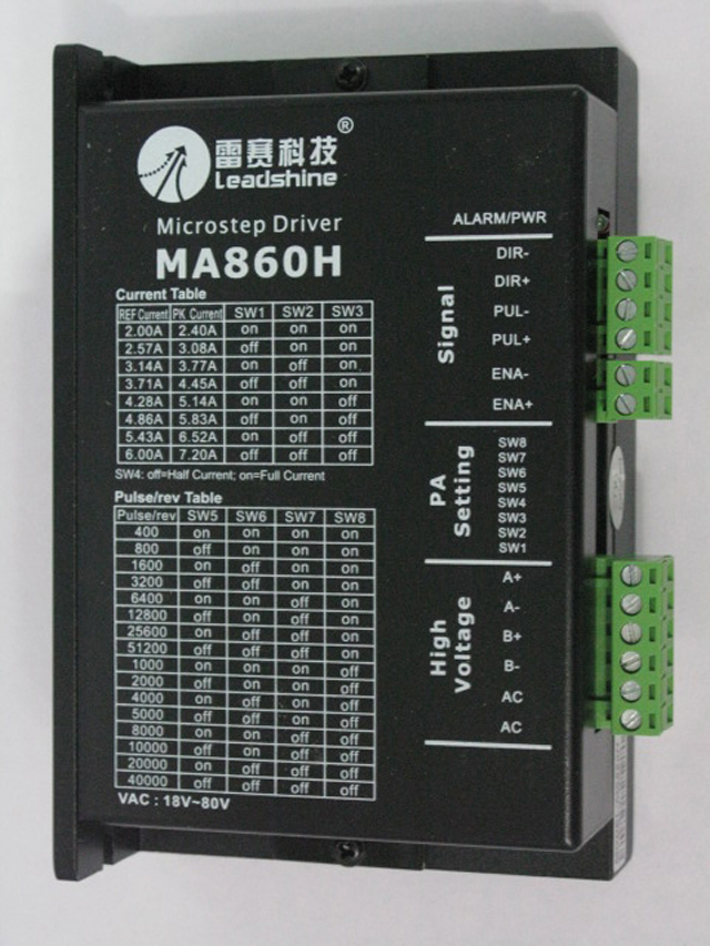 Leadshine 2 phase stepper Driver MA860H work 24-80 VDC out1.8A to 7.2A fit NAME 34 Stepper motor 3.5NM or 4.5NM