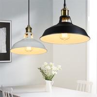 Loft Vintage Hat Led Pendant Lights Modern Industrial E27 Kitchen Dining Bar Pendant Lamps Bar Counter Indoor Lighting Luminaire