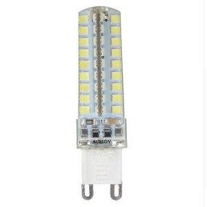Image 1 - 50pcs Mini G9 LED Lamp 10W Dimmable AC220V/110V   2835 SMD 72LED Chandelier Corn Bulb Light Warm White/ White Free Shipping