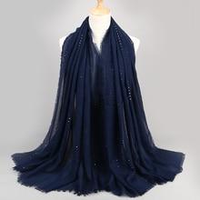 1 шт., большой размер, однотонная расцветка, Блестящие Блестки, серебро, висекоза, хиджаб, шарф, весна, однотонная обёрточная бумага, мусульманские хиджабы, мусульманские шарфы/шарф