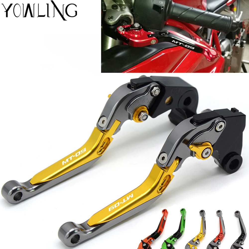 For Yamaha MT09 MT-09 MT 09 FZ-09 2014 2015 2016 2017 Motorcycle CNC Adjustable Extendable Brake Clutch Levers High quality keoghs real adelin 260mm floating brake disc high quality for yamaha scooter cygnus modify