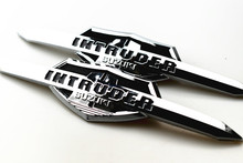 Motorcycle Chromed Fuel Tank Nameplate Adapter Kit Decorative Medallions & Decals Stickers For Suzuki Intruder