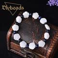 New Creative Women White Petals Bracelets Natural Stone Bracelets Strand Bracelets & Bangles Diybeads