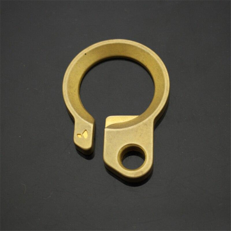 1PC Brass Keychain Key Hanging Hang Buckle Pendant Polishing Pure Copper Opener  Key Receptors EDC Pocket Multi Tools