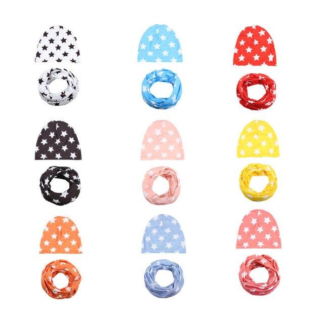 Cotton Baby Hat Set Ice Cream Love Print Cotton Cap Baby Hats Newborn Hat  Children Scarf Collar Boys Beanie Kids Cap for Girls c0a06027cd3b