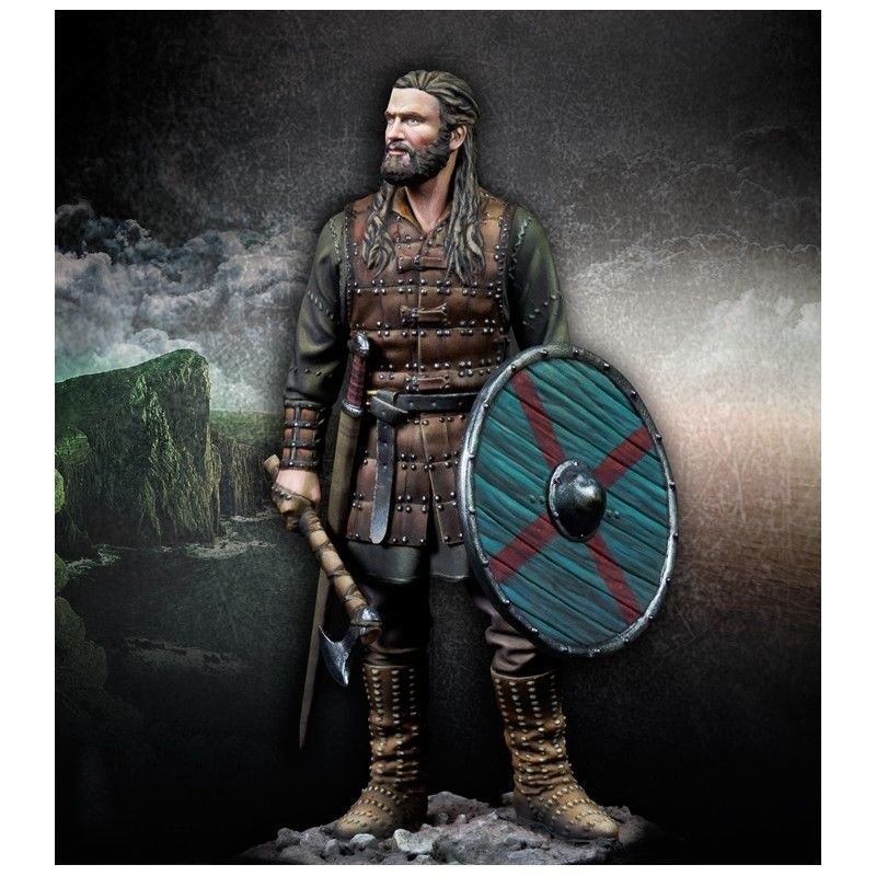 Unpainted Kit  1/24 75mm Lodbrok Viking Warrior     Resin Figure Miniature Garage Kit