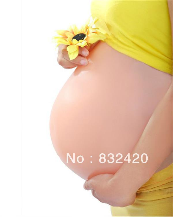 silicone artificial baby bump fake pregnant belly realistic fake bump Twins 4000g 10cm thick mr bump