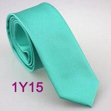 YIBEI Coachella обтягивающий галстук Аква бирюзовый однотонное из микрофибры тканый галстук узкий галстук